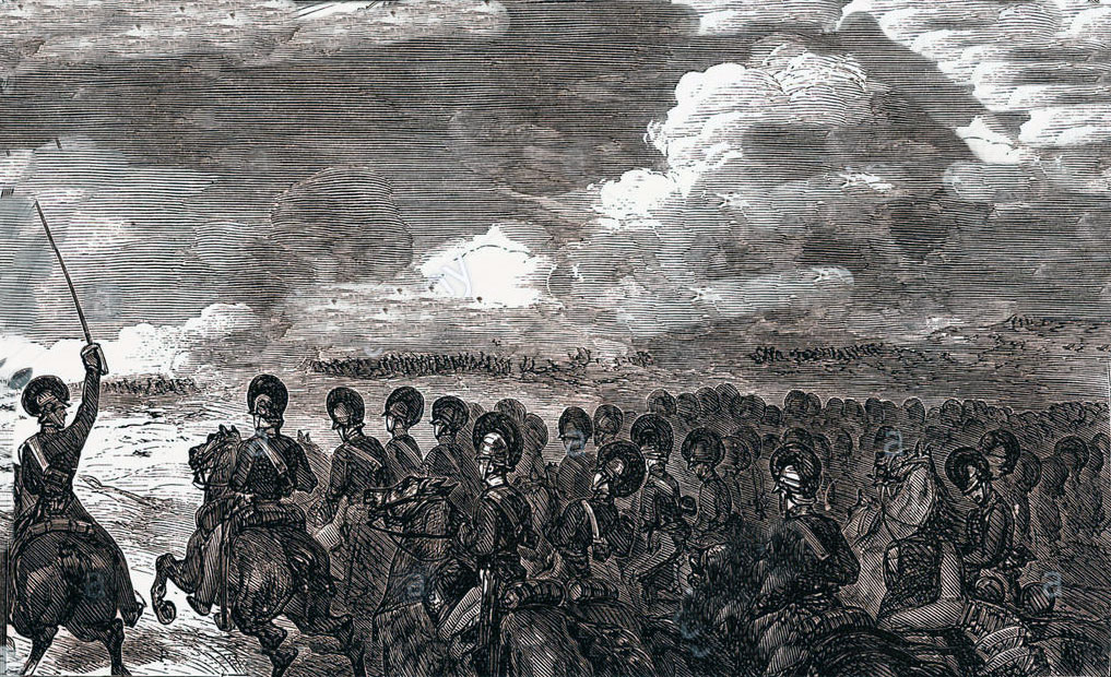 The British Light Dragoon attack at the Battle of Laswaree on 1st November 1803 in the Second Mahratta War