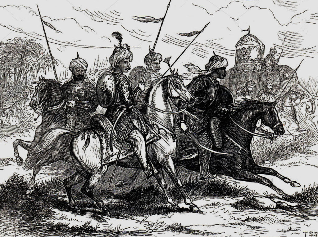 Mahratta Light Horse at the Battle of Laswaree on 1st November 1803 in the Second Mahratta War