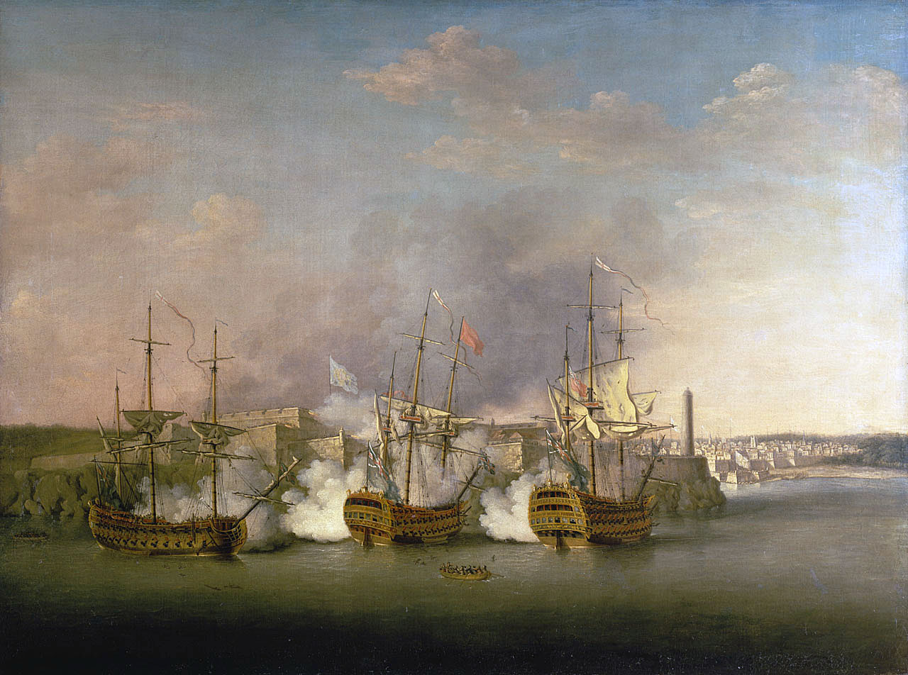 Royal Navy Bombardment of El Morro Castle on 1st July 1762 during the Capture of Havana in 1762: a British picture