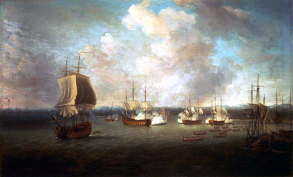 British bombardment and landing at Chorera on 10th June 1762: Capture of Havana in August 1762 during the Seven Years War