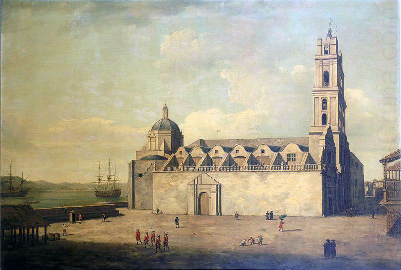 Havana Cathedral after the Capture of Havana in August 1762 during the Seven Years War: picture by Dominic Serres
