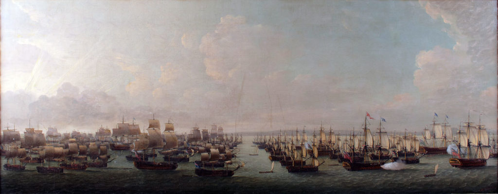 The British Fleet on its way to Cuba: Capture of Havana in August 1762 during the Seven Years War