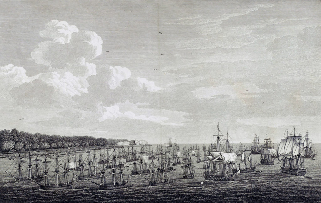 British landing at Coximar on 7th June 1762: Capture of Havana in August 1762 during the Seven Years War
