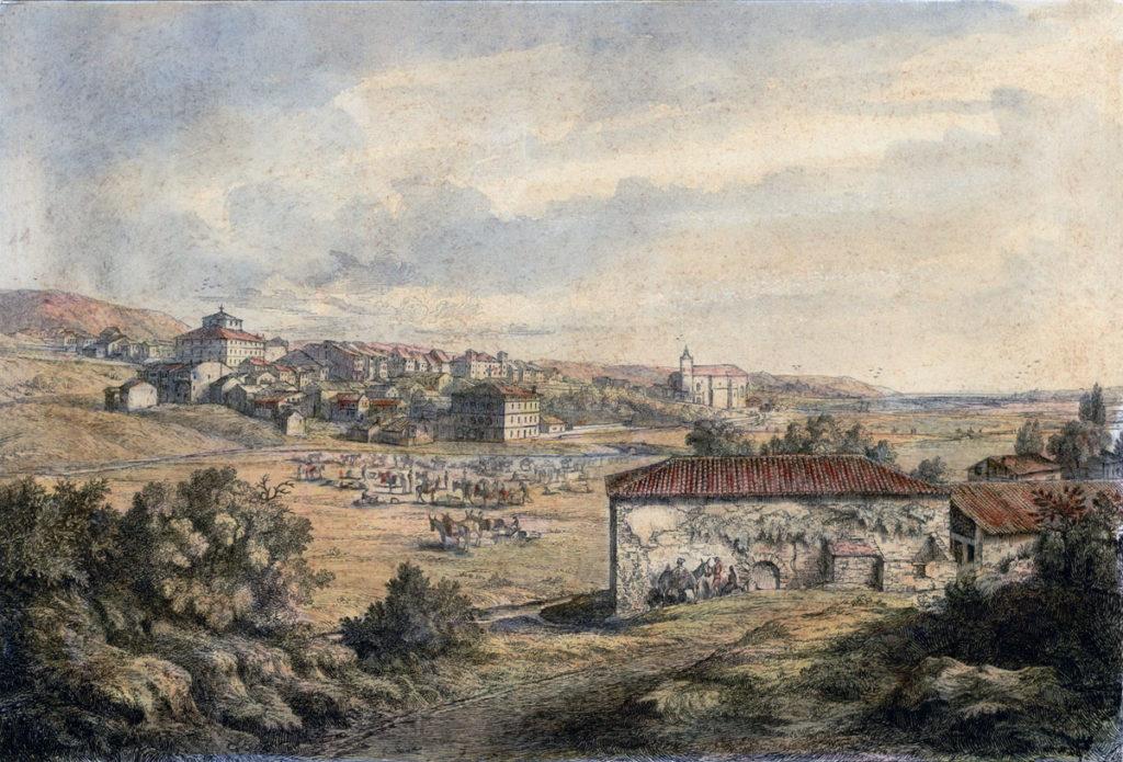 Town of Irun: Battle of the Bidassoa on 7th October 1813 during the Peninsular War: picture by Robert Batty