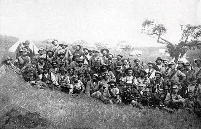 German Corps in the Boer Army before the Battle of Elandslaagte on 21st October 1899 in the Great Boer War