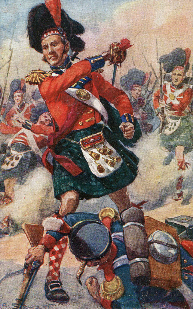 42nd Black Watch at the Battle of Alexandria on 21st March 1801