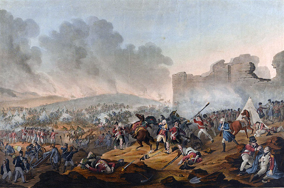 Battle for the Great Redoubt at the Battle of Alexandria on 21st March 1801