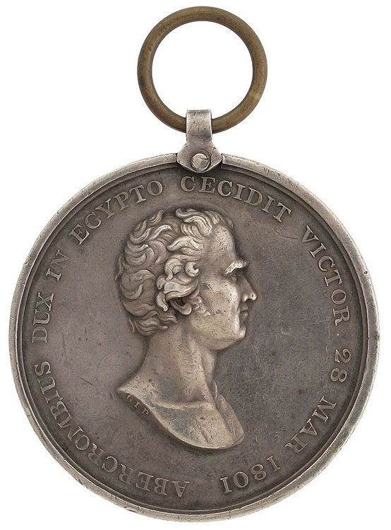 Medal issued by the Highland Society of London commemorating the Battle of Alexandria on 21st March 1801