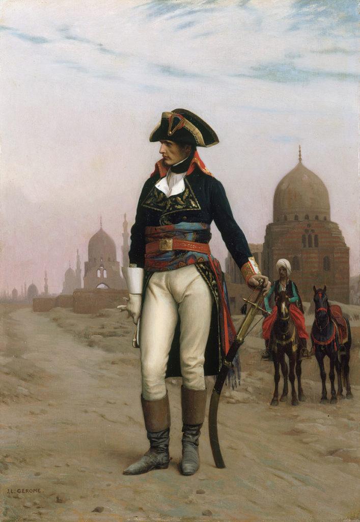 Napoleon Buonaparte in Egypt: picture by Jean Léon Gérôme
