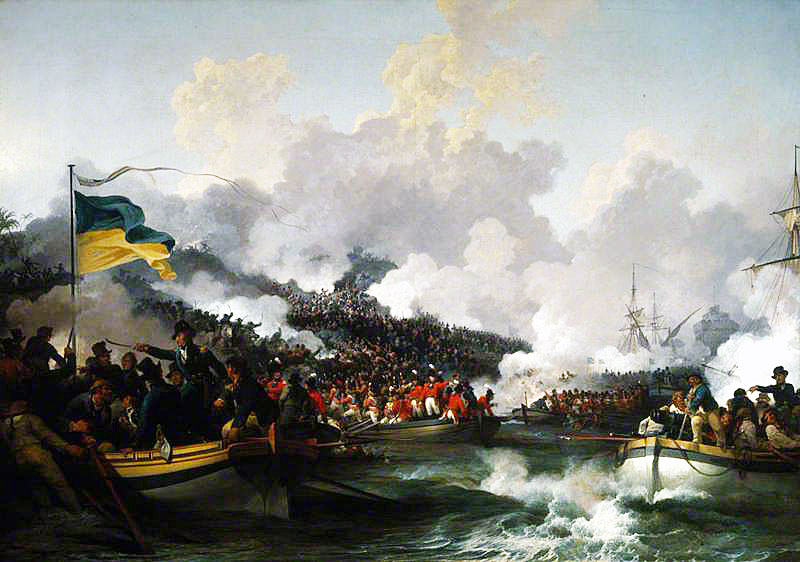 British landing in Aboukir Bay on 8th March 1801
