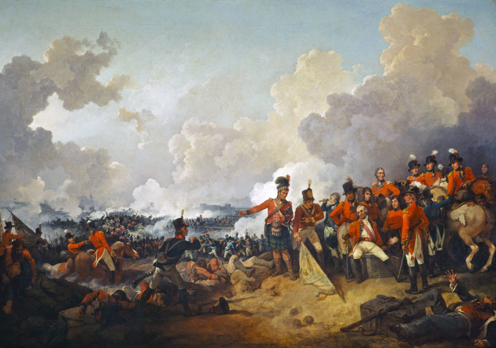 Battle-of Alexandria on 21st March 1801 in the French Revolutionary War: picture by Philip James_de Loutherbourg