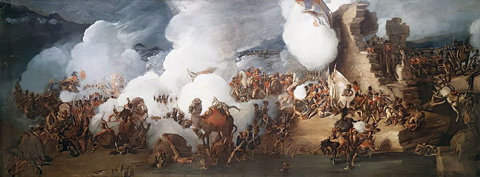 Battle for the Great Redoubt at the Battle of Alexandria on 21st March 1801: picture by Philippe de Loutherbourg
