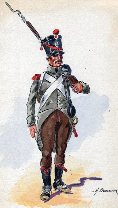 Soldier of the French 1st Light Infantry: Battle of Maida on 4th July 1806 in the Napoleonic Wars