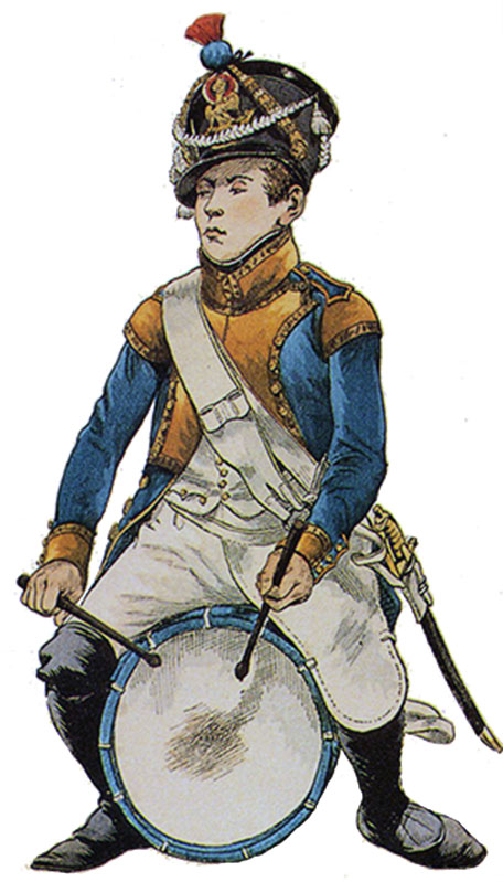 Drummer of French 42nd Line Regiment: Battle of Maida or Santa Euphemia on 4th July 1806 in the Napoleonic Wars