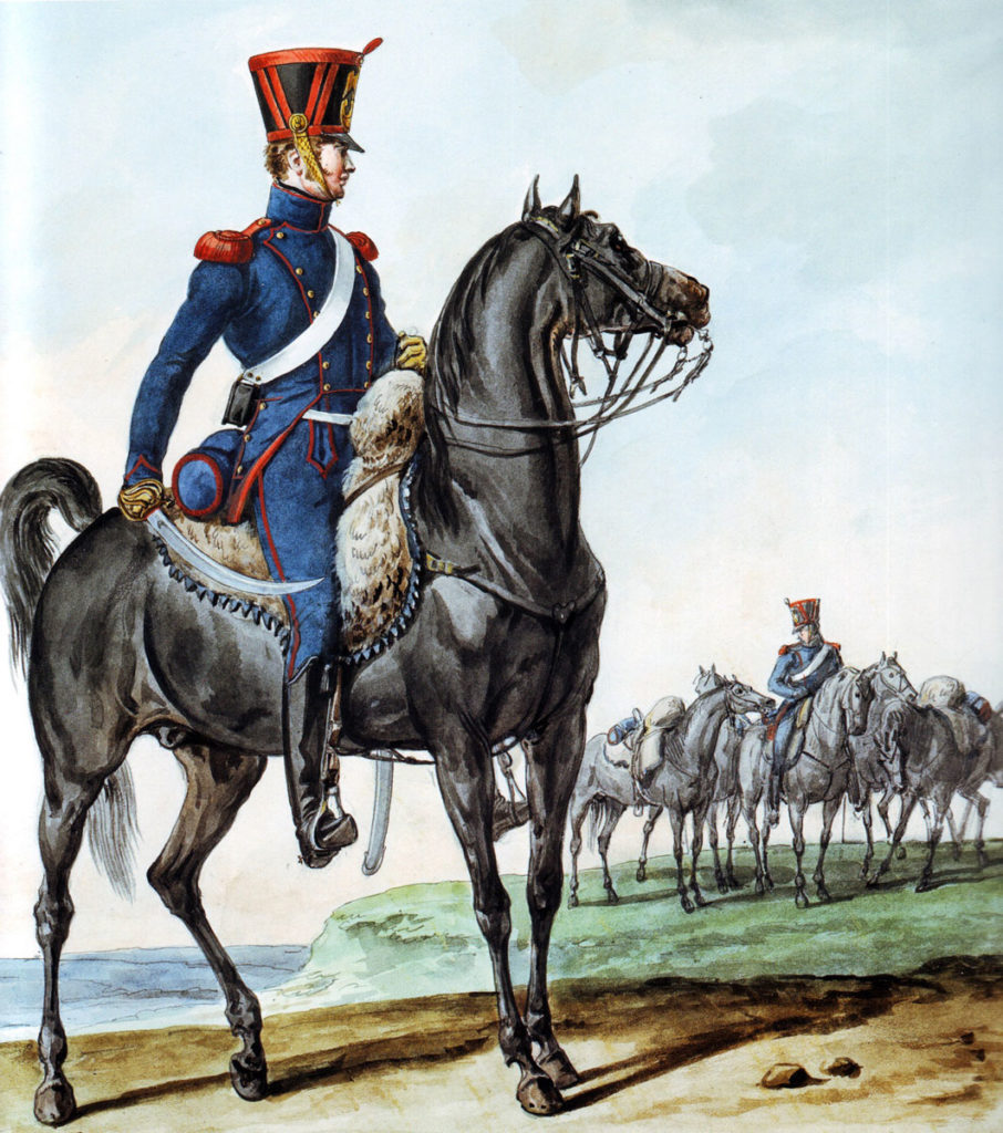 French Horse Artillery: Battle of Maida or Santa Euphemia on 4th July 1806 in the Napoleonic Wars: picture by Horace Vernet
