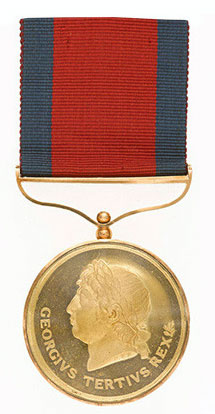 The Maida Gold Medal  awarded to the thirteen senior British officers involved in the Battle of Maida on 4th July 1806 in the Napoleonic Wars.