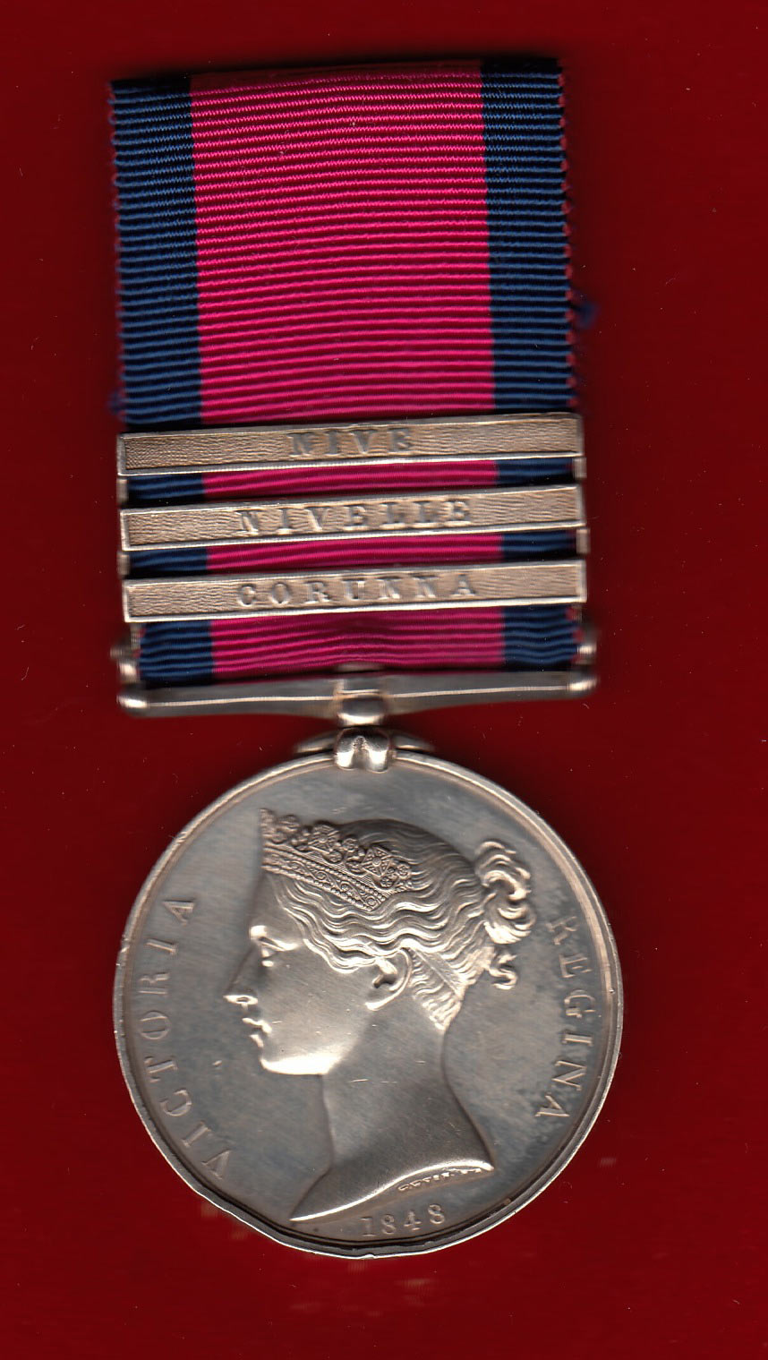 General Service Medal with clasp for the Battle of Corunna on 16th January 1809 in the Peninsular War