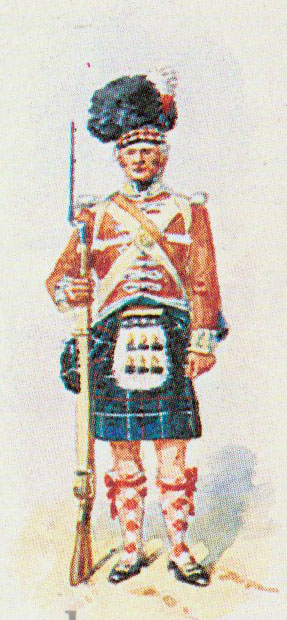 Soldiers of 78th Highlanders: Battle of Maida or Santa Euphemie on 4th July 1806 in the Napoleonic Wars