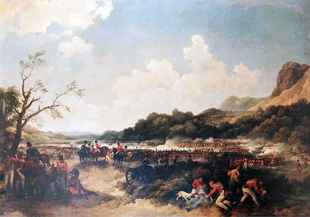 Battle of Maida or Santa Euphemia on 4th July 1806 in the Napoleonic Wars: picture by Louthembourg