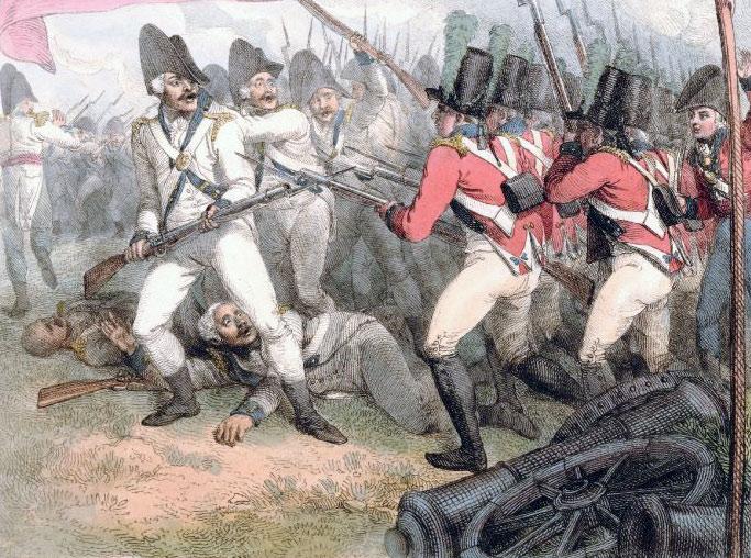 Battle of Maida or Santa Euphemia on 4th July 1806 in the Napoleonic Wars