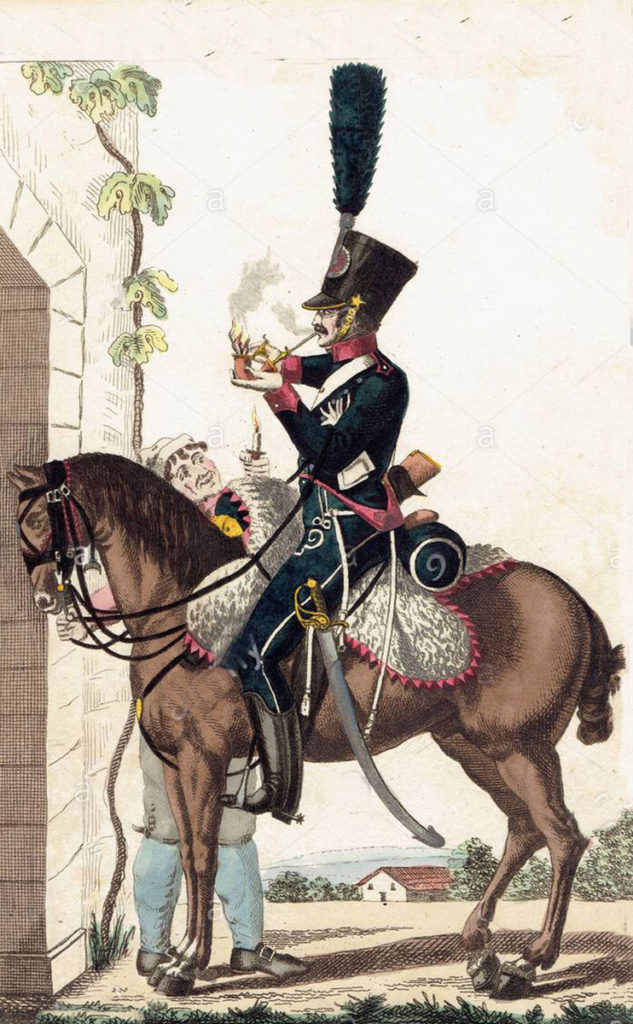 French 9th Chasseurs à Cheval: Battle of Maida on 4th July 1806 in the Napoleonic Wars